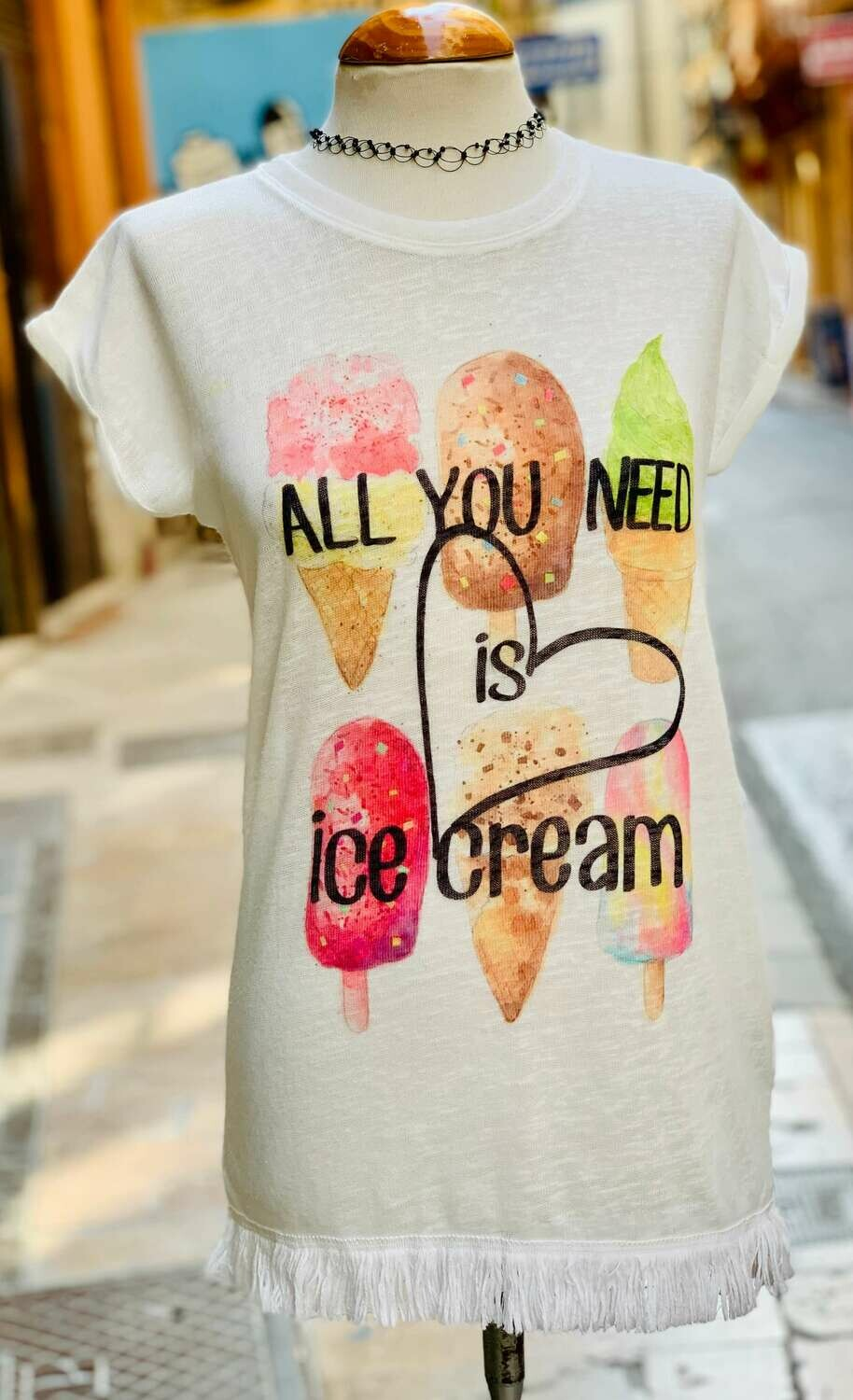 "Camiseta larga ""ICE CREAM"""