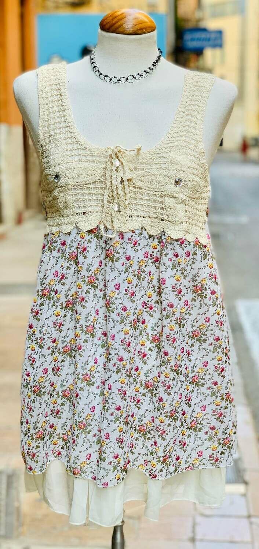 """Vestido veraniego con crochet """"ROCIO"""""""