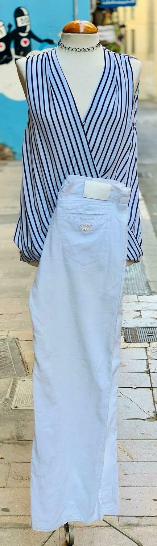 Camisa marinera sin mangas cruzada