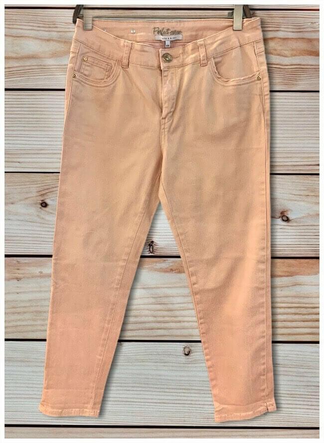 **REBAJADO** Pantalon tobillero color tornasolado con dorado