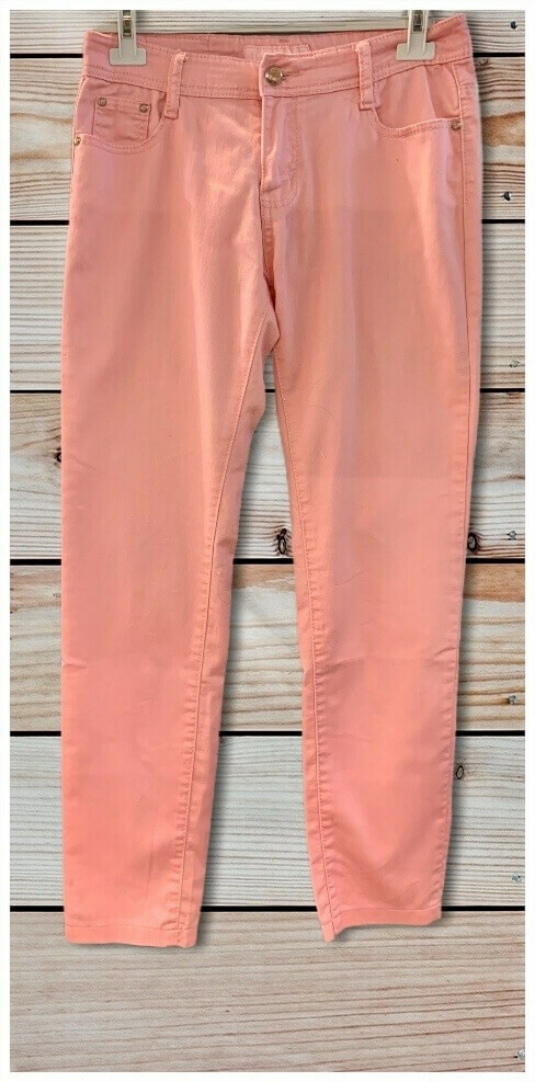 Pantalon tiro alto rosa