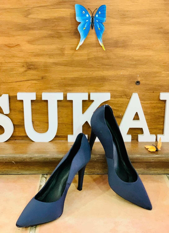 """*Zapatos de tacón azul marino talla """"MINELLI"""" 36"""