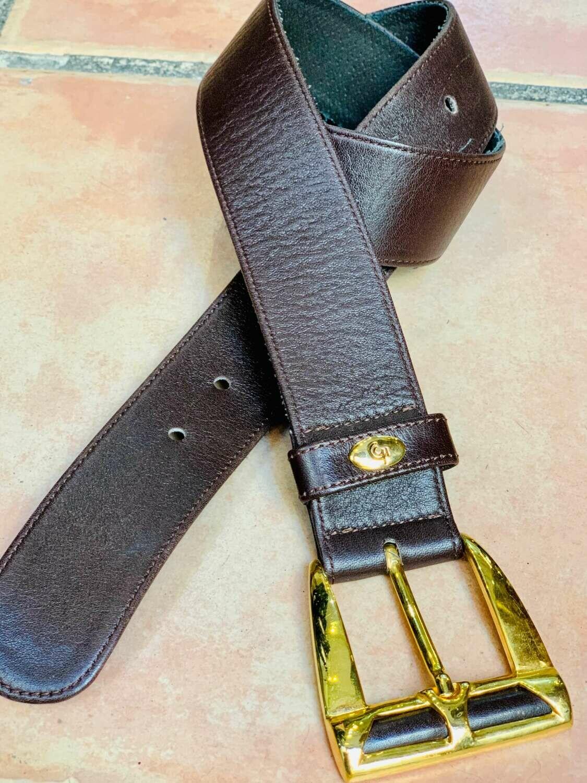 Cinturón vintage marrón