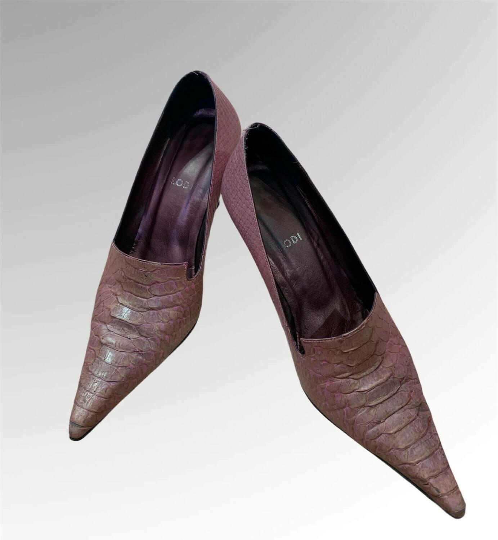 """Zapatos de tacón de piel con punta """"LODI"""" T37"""