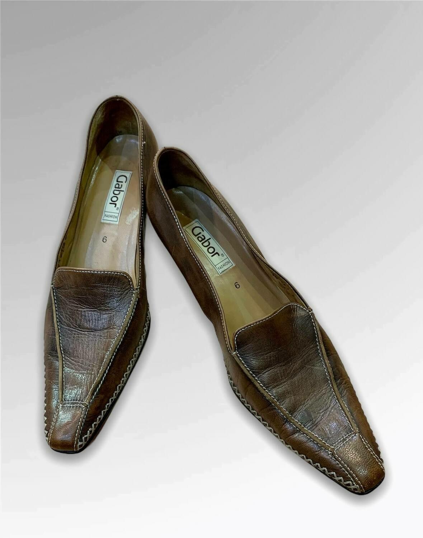 """Zapatos de tacón de piel con punta """"GABOR"""" T39"""