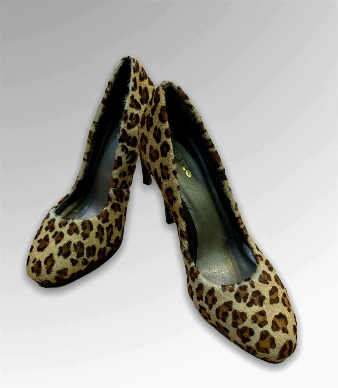 """Zapatos de tacón de pelo animal print """"FOSCO"""" T37"""