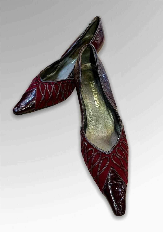 "Zapatos de tacón de punta ""PACO DURÁN"" T35"