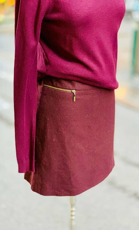Falda de invierno con cremalleras