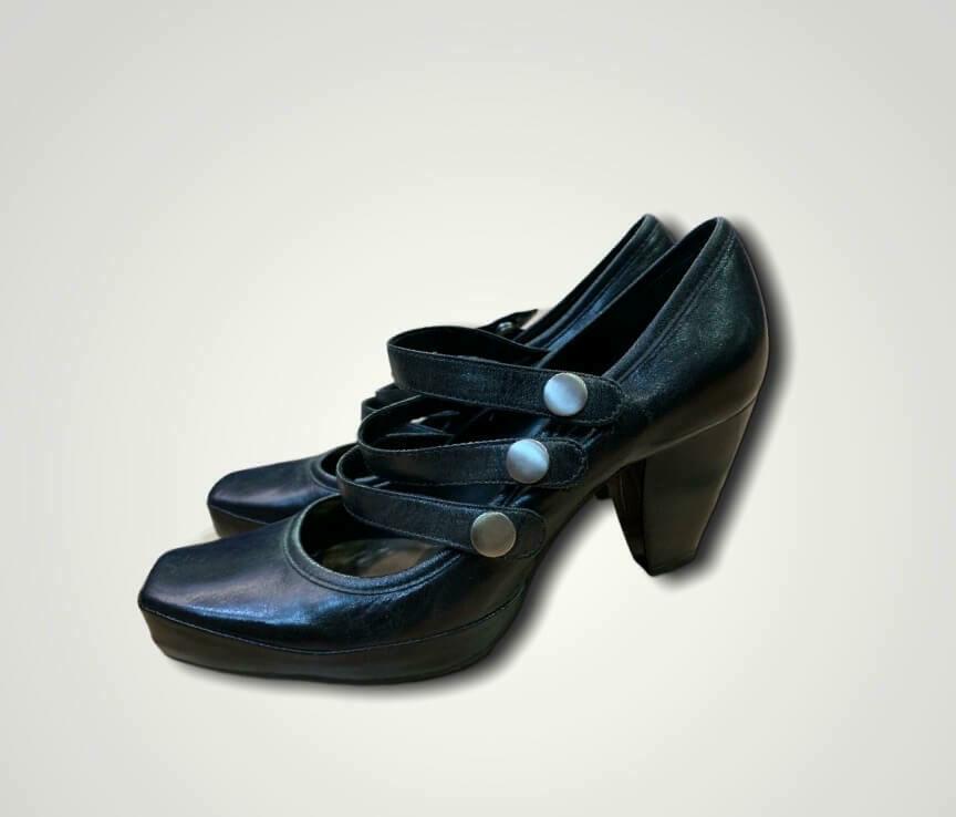 """Zapatos de tacón con punta cuadrada """"CLARKS"""" T40"""