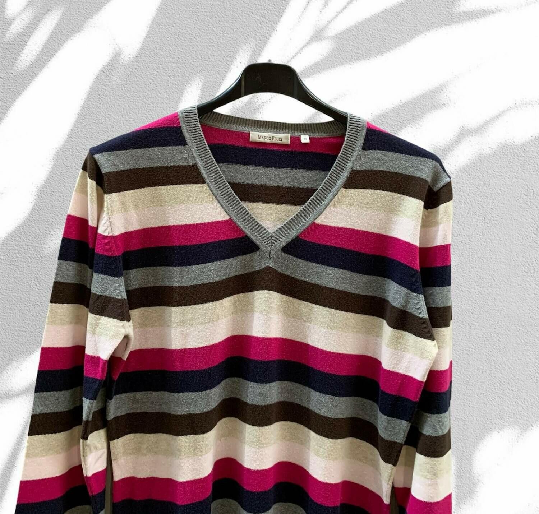 Sweater finito a rayas
