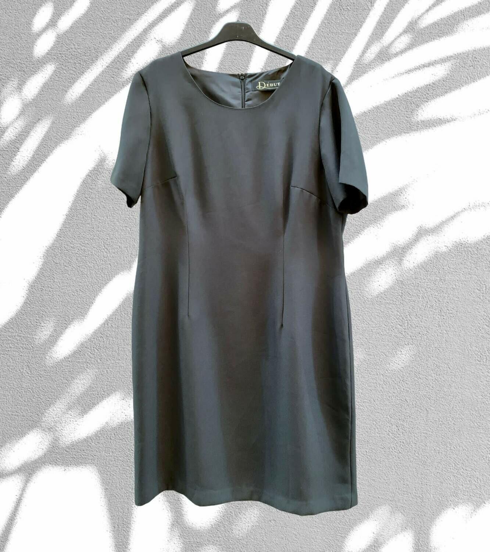 Vestido formal básico de manga corta (TG)