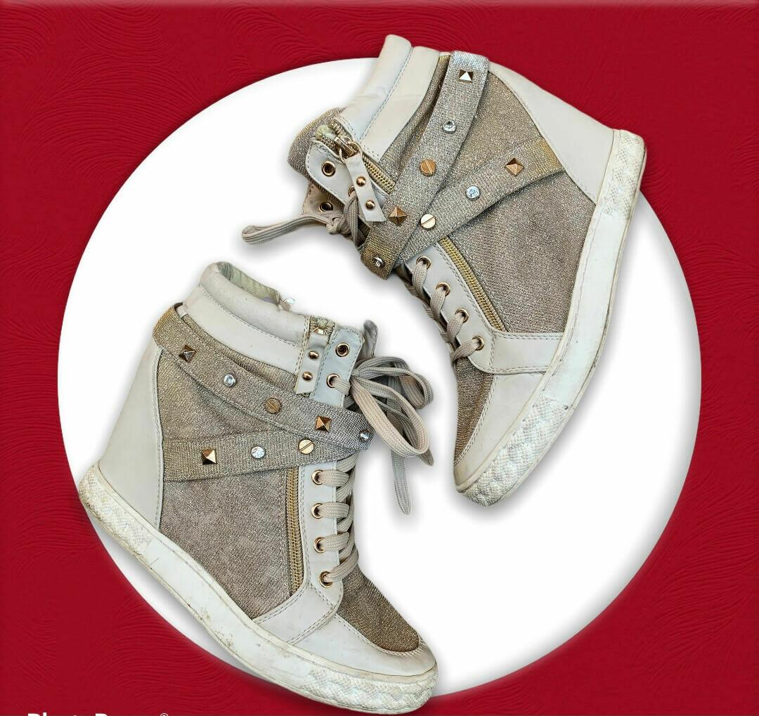 Zapatillas de tacón con brillos T40
