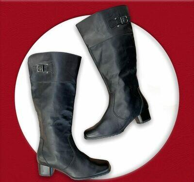 Botas de caña de alta de piel T39