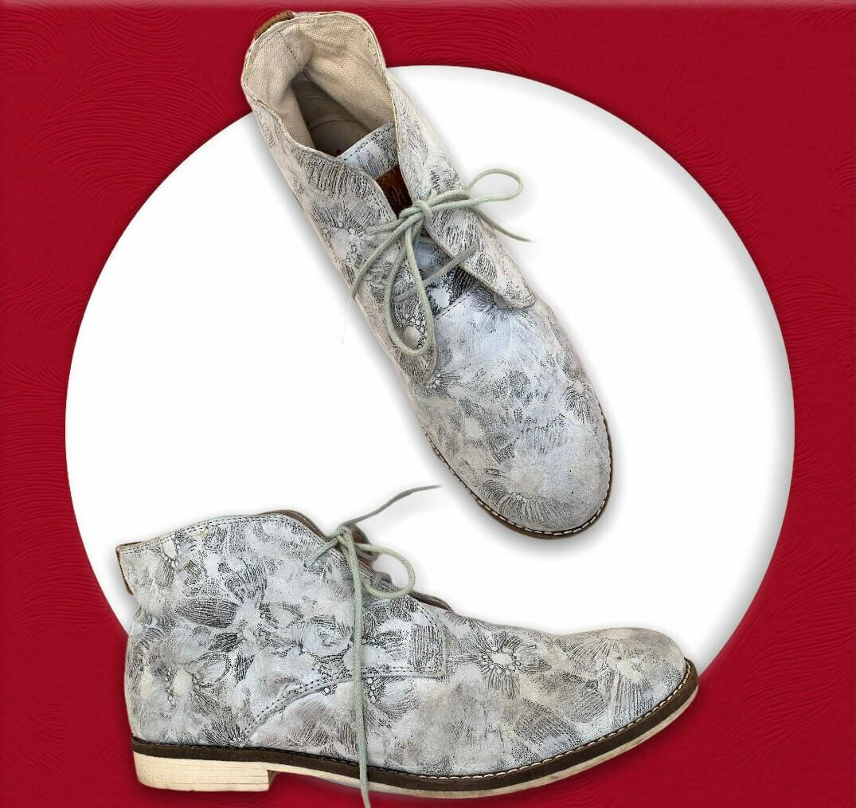"""Zapatos de ante estampado de flores """"S.OLIVER"""" T41"""