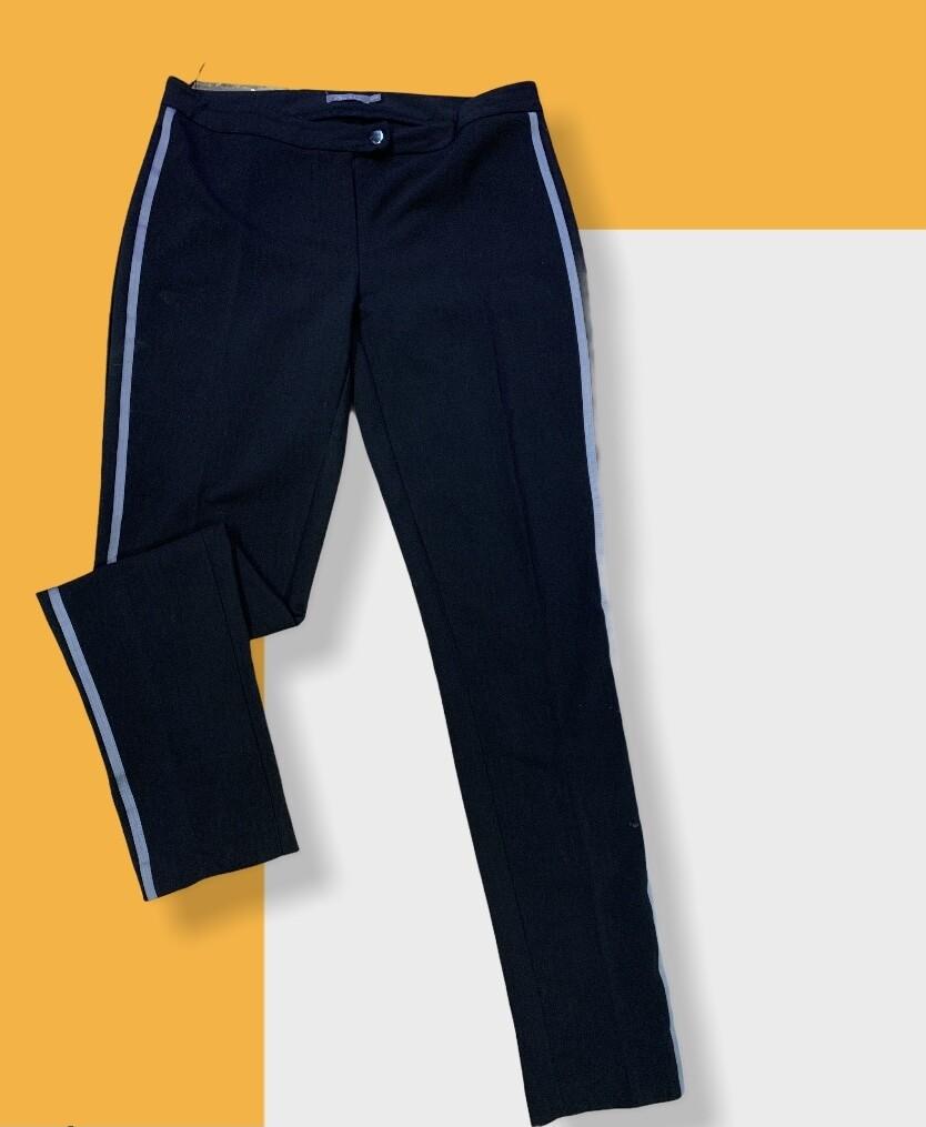 Pantalón de vestir tiro bajo con raya al costado T40
