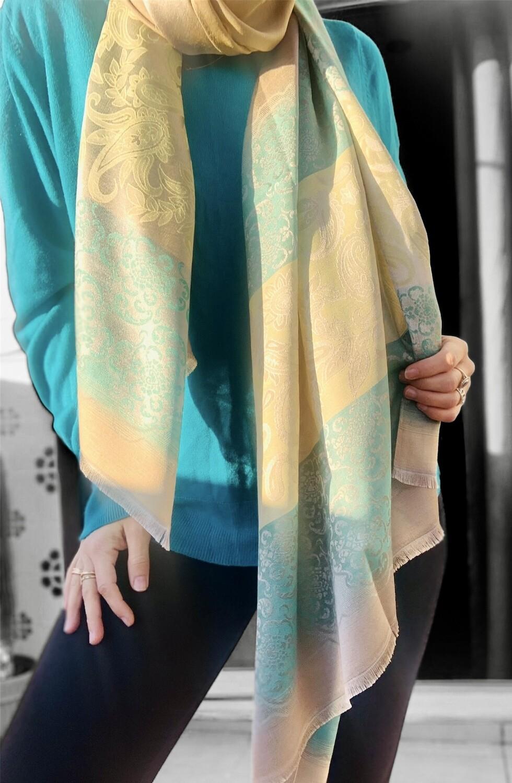 Foulard rectangular de seda de la India