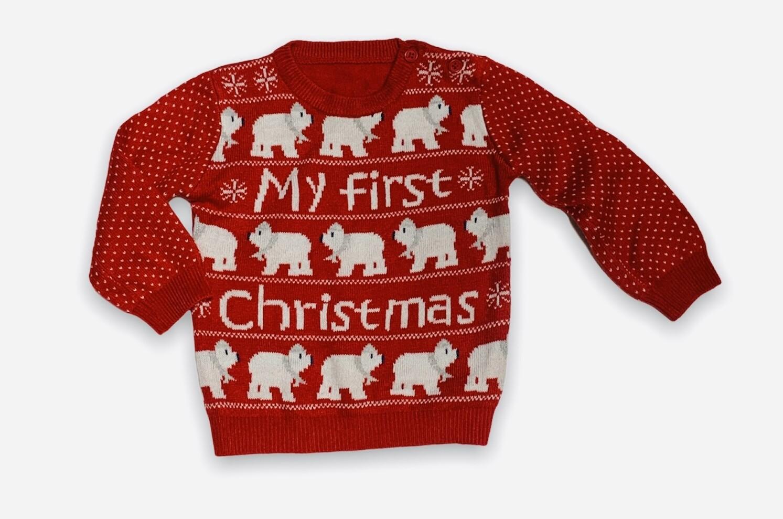 "X-MAS- Sweater navideño bebé ""MY FIRST X-MAS"""