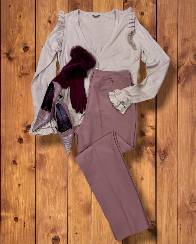 Pantalon de vestir rosa palo T42