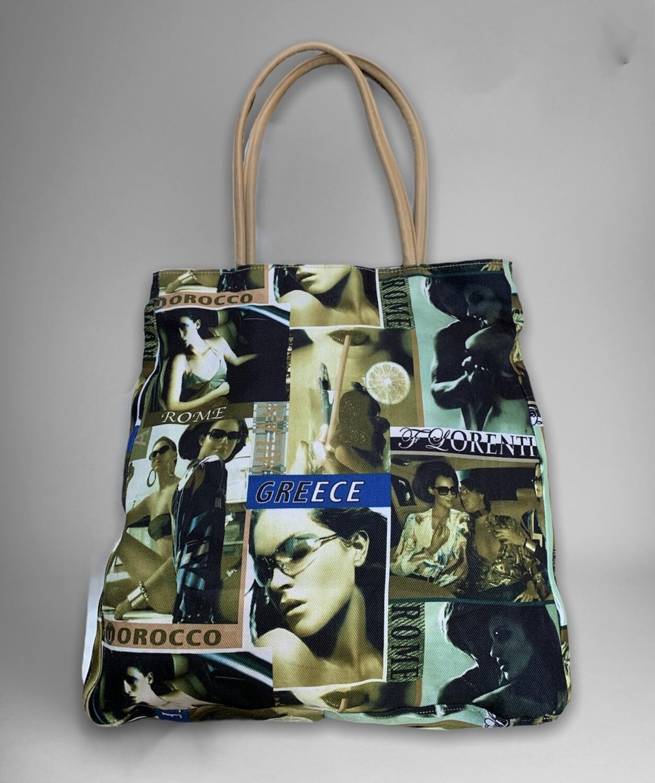Bolso de hombro de tela / shopping bag