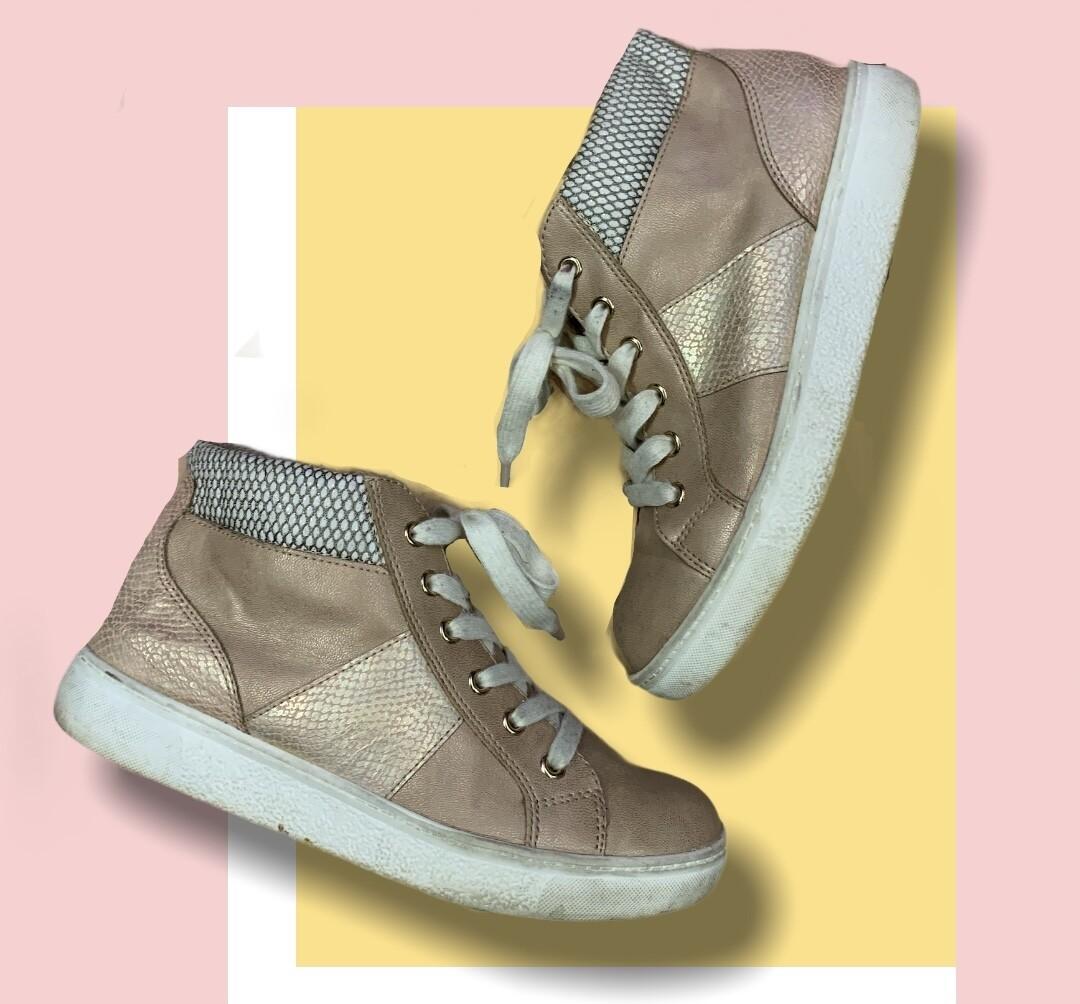 Zapatillas botitas rosa perlado T39