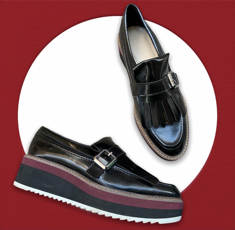 Zapatos tipo mocasín con plataforma T39