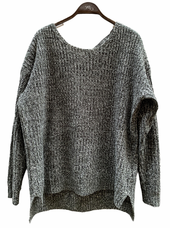 *COMBI 11* Sweater ancho con escote cruzado en la espalda (TG)