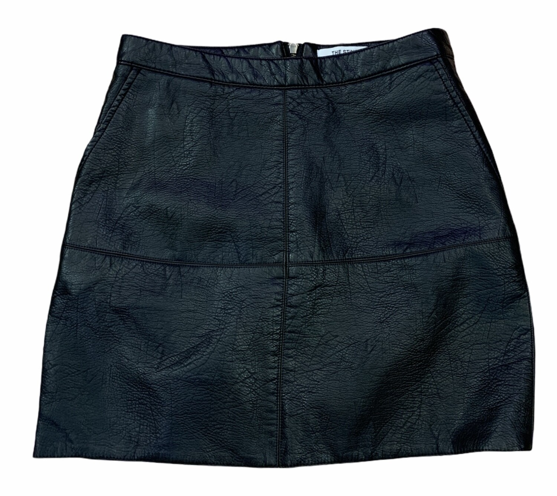 Mini falda de piel sintética