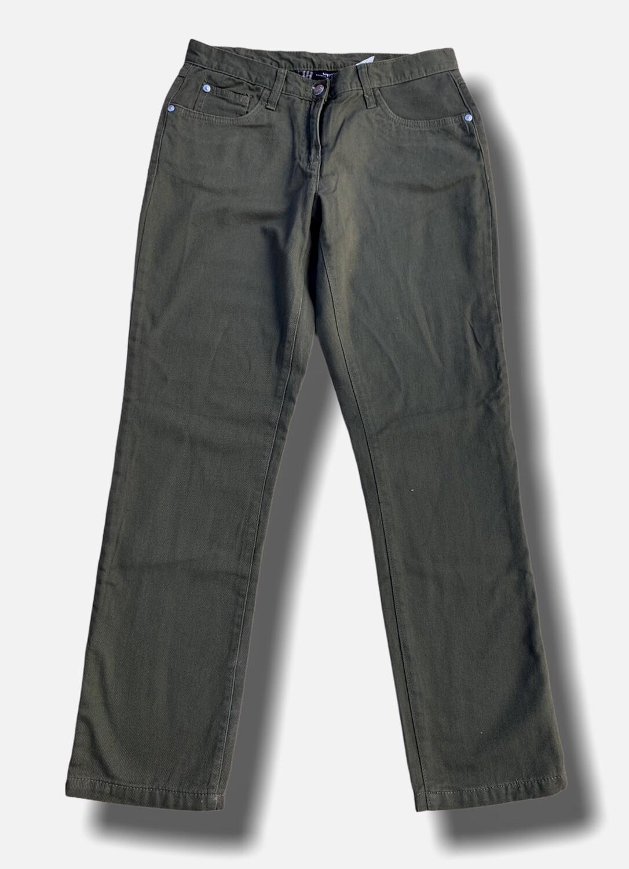 Pantalón vaquero clásico recto verde militar