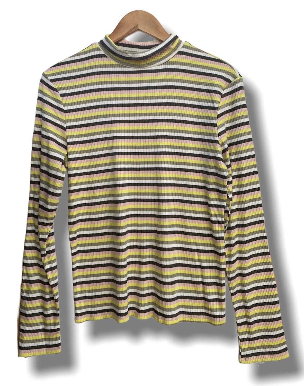 Camiseta de manga larga de rayitas