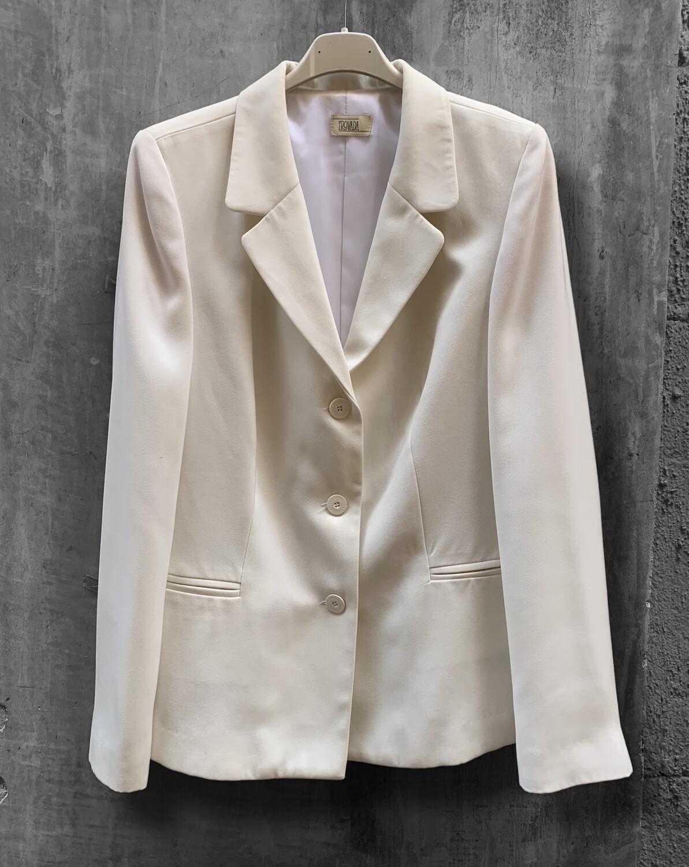 Chaqueta americana de vestir blanca
