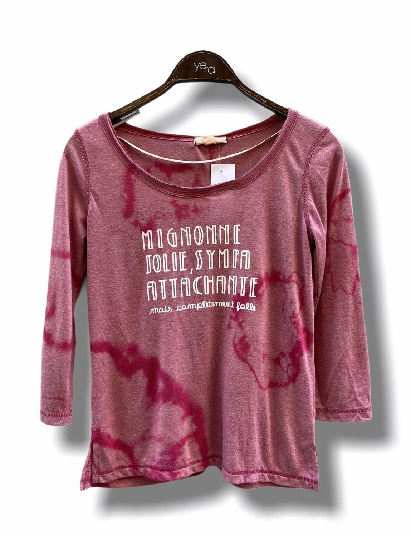 Camiseta media manga tie-dye