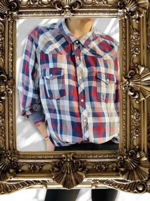 Camisa de cuadros con coderas