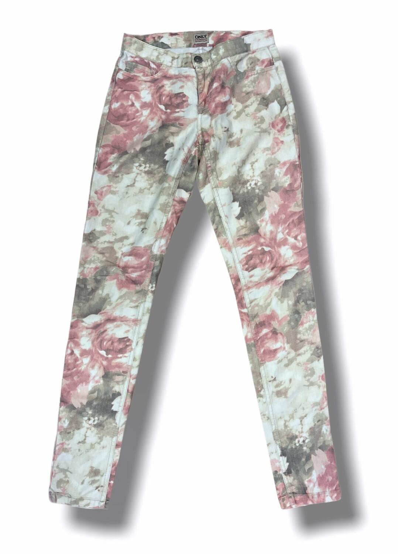 """Pantalón tipo vaquero estampado flores """"ONLY"""""""