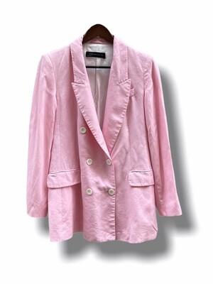 Blazer de lyocell rosa