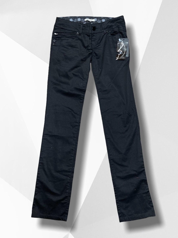 Pantalón tipo vaquero negro tiro bajo T36 (NUEVO)
