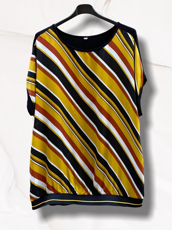Camiseta de manga corta con frente de satén (TG)