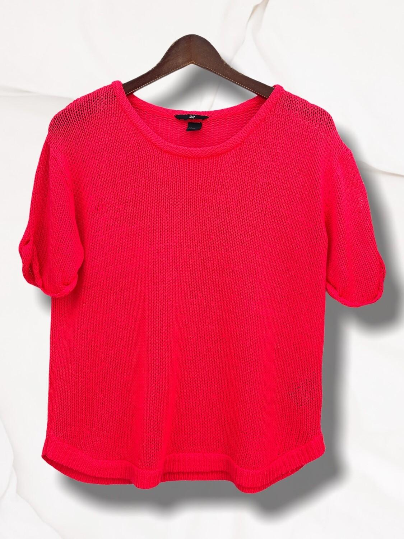 *NEW* Sweater de hilo de manga corta color fosfi