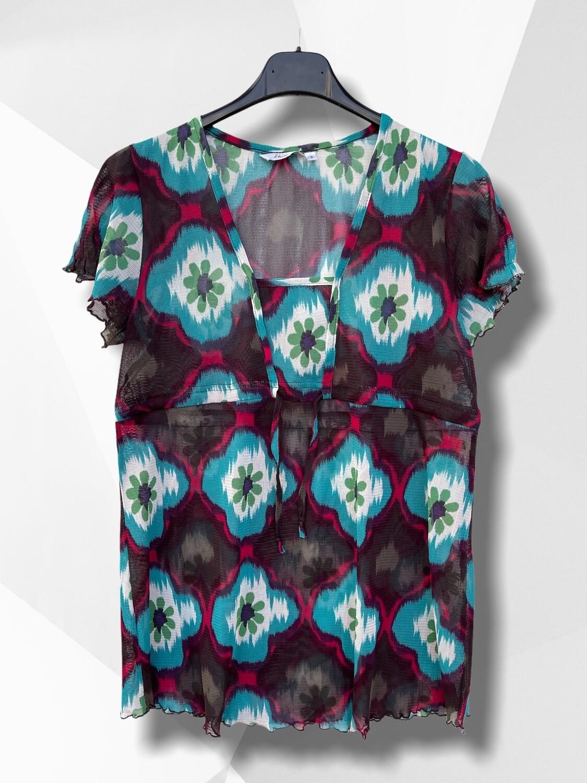 *NEW* Camiseta transparente estampado flores