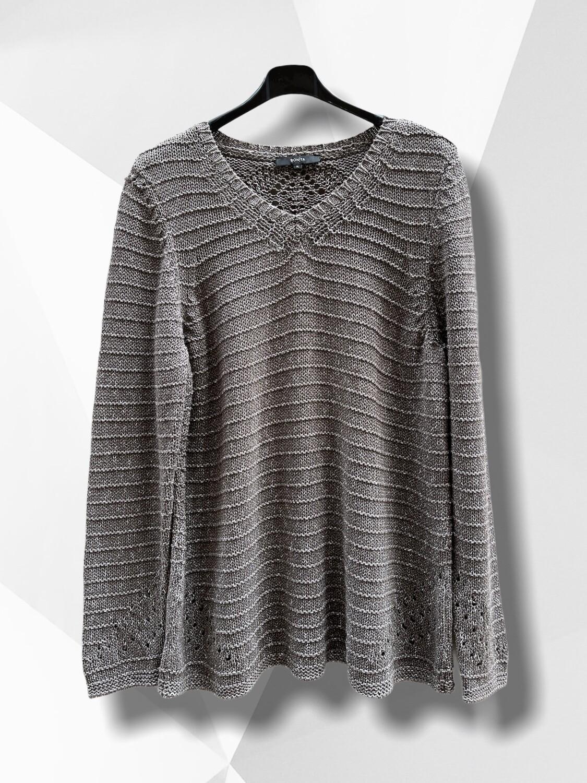 Sweater de hilo con detalles calados (TG)