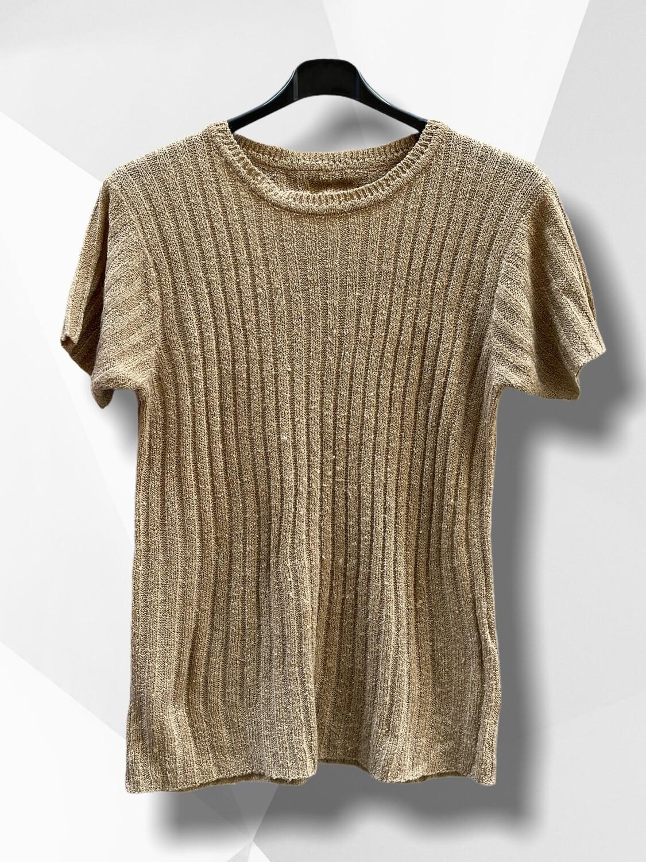 Sweater de hilo de manga corta