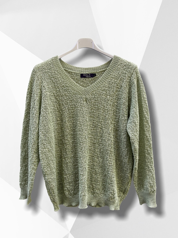 Sweater de hilo cuello V