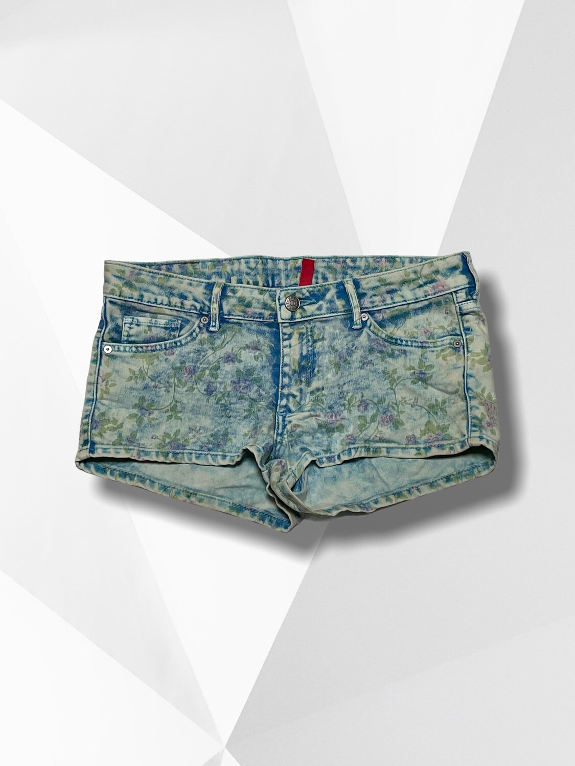 **DUO 9** MINI Short vaquero estampado flores