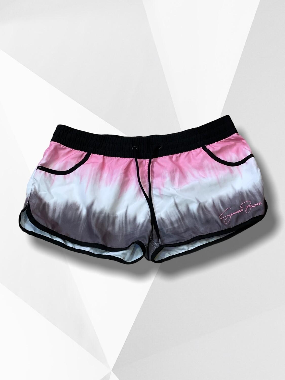 **SPORT** Short surfero rosa/blanco/gris