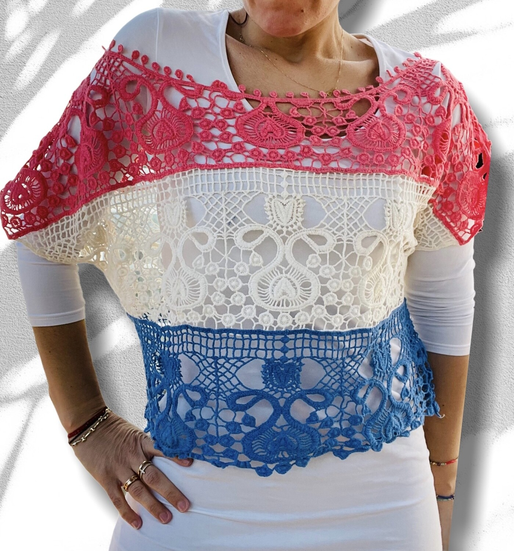 ***HOY*** Ponchito de crochet rayas