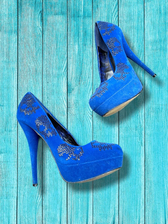 """Zapatos de tacón con calaveras de lentejuelas """"IRON FIST"""" T39"""