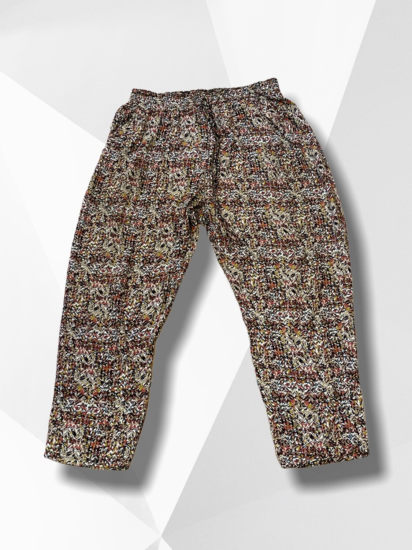 Pantalón bombacho finito colores tierra (TG)