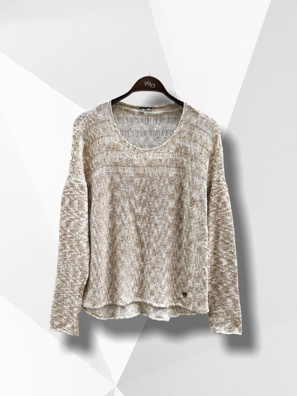 **NEW** Sweater de hilo con pinceladas color cobre