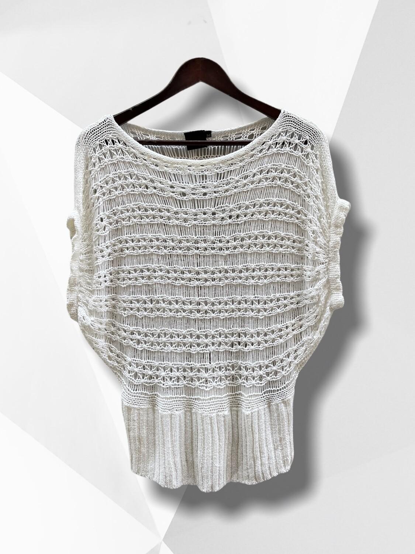 *COMBI 3* Sweater de hilo caladito con manga mariposa