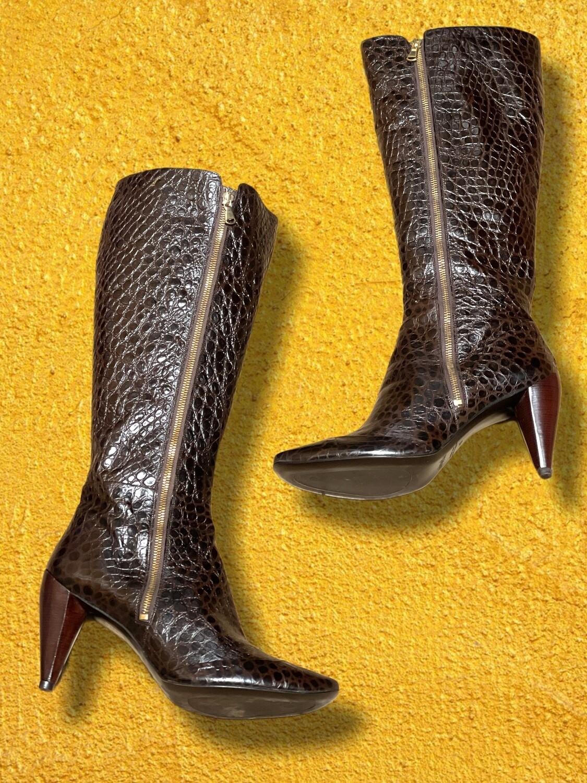 Botas de piel de cocodrilo T40 y T41