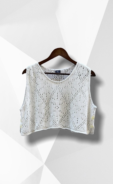 Sweater de hilo sin mangas / chaleco (TG)